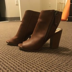 Madden Girl heeled open back boots
